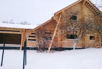 Дом-баня из рубленного бревна «Баритон»