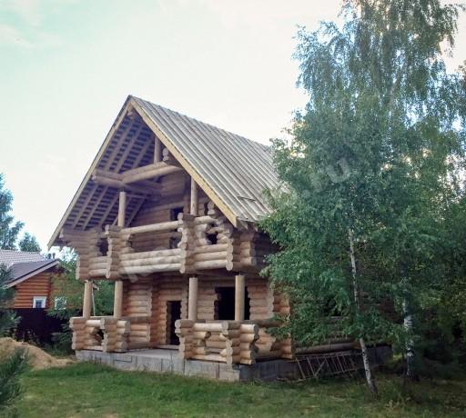 Дом-баня из рубленного бревна «Боярин»