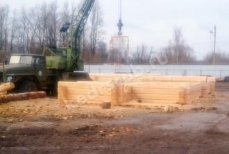 Баня из рубленного бревна «Лазня с хозблоком»