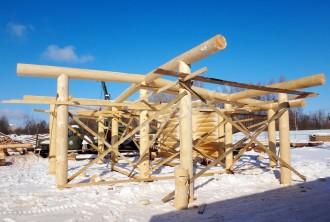 Баня из рубленного бревна «Восток»