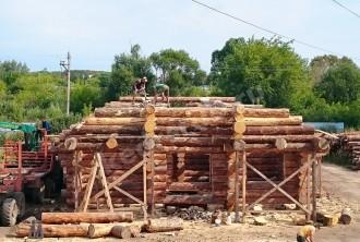 Дом из рубленного бревна «Медвежий рай»