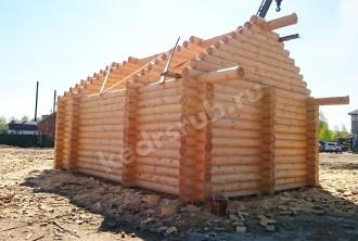 Баня из рубленного бревна «Лазня»