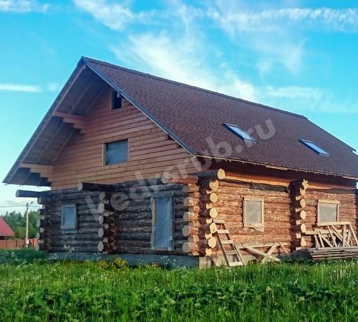Дом из рубленного бревна «Мокко»